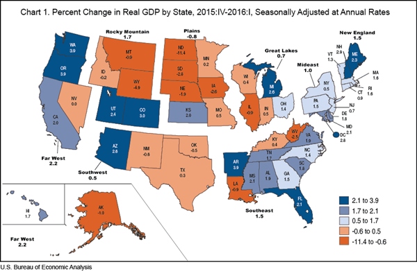 US-State-GDP-Map